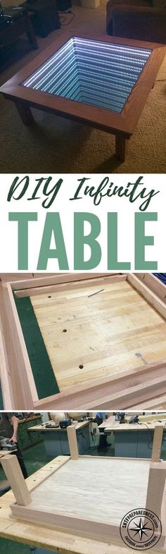 Plans of Woodworking Diy Projects - DIY Infinity Table — DIY woodworking projects are a fun hobby and can be a great way to generate income. There are countless designs you can come up with, and it can be a thrill to craft something unique. Get A Lifetime Of Project Ideas & Inspiration!