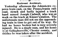 Genealogical Gems: On This Day: Gallaghersville man injured in railro...