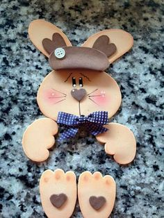 Gingerbread Cookies, Handmade, Bunny, Gift, Feltro, Ideas, Easter Bunny, Easter Eggs, Rabbits