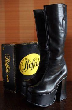 6b84804215 BUFFALO T 24400 II platform boots 90's Club Kid Gothic Rave Techno 90s boots  2417-73. 90s Boots, Platform Boots, High Heel ...