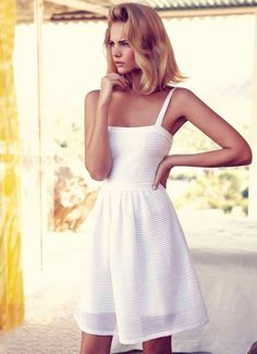christian dior cotton dress. White dresses are so fresh looking