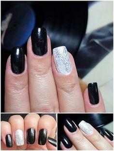 Wedding nails black & white