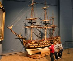 Model Sailing Ships, Old Sailing Ships, Model Ships, Real Pirate Ships, Mercedes Stern, Model Ship Building, Hms Victory, Wooden Ship, Big Guns