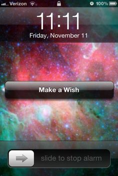 looking at the clock and having it be the perfect time for a wish