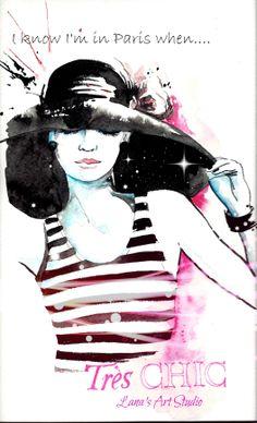 Illustration and Watercolor Fashion - Lanasart