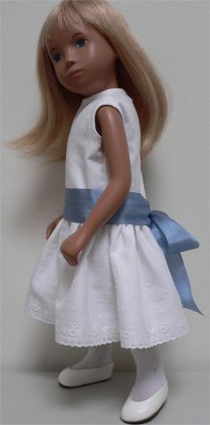Dress for Sasha doll created from vintage embroidered cotton with a pure silk sash by chirnside on eBay