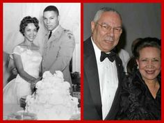 Colin and Alma Powell then and now
