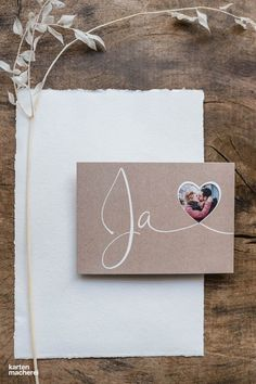 """Wedding invitation """"heart happiness (punched)"""" The wedding invitation in the design """"heart happiness"""" in kraft paper look fits perfectly to a wedd Wedding Invitation Templates, Invitation Design, Wedding Invitations, Simply Knitting, Karten Diy, Ivy Leaf, Ceremony Decorations, Kraft Paper, Belle Photo"""