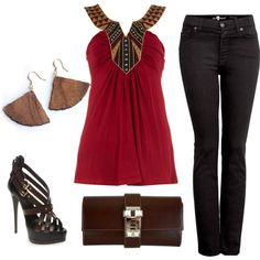 """""""Untitled #258"""" by blissful11 on Polyvore Love the lapel on the blouse. And the clutch"""