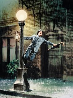 "Happy 60th Anniversary to my favorite musical! Still of Gene Kelly in ""Singin' in the Rain"""
