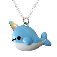 Encontre esto: 'Kawaii Narwhal Necklace - Rainbow Edition' en Wish, ¡échale un ojo!