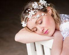 Flower Cascade Crown Wedding Tiara wedding accessories by deLoop