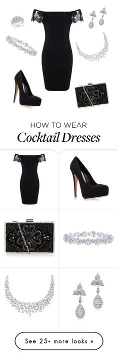"""Evening Cocktail Event"" by nmccullough on Polyvore featuring Miss Selfridge, Carvela Kurt Geiger, Harry Winston and Kobelli"