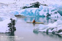 Sea-Kayaking Jokulsarlon in Iceland