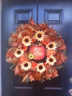 Happy Fall deco mesh wreath