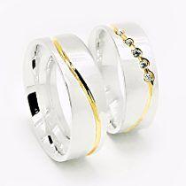 Alianças De Prata 950k Compromisso E Namoro Banhado A Ouro