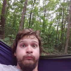 Chillin in the woods! #feelsgoodman #hammocklife #treesandshit #hobodinner by @runswithewolves