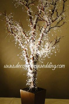 CRYSTAL WEDDING TREE - ICED BROWN.   love this tree so much I wish I had room to create a forest of them in my house!