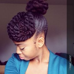 Lovely Natural Updo | PROTECTIVE STYLE