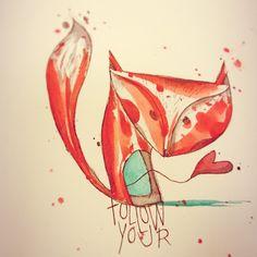 #stefanoarici#scarabiss#tattooflash#flash#watercolor#aquarelle#akvarel#watercolour#acquerello#acquarello#fox#volpe#sketch#zorro#aquarel