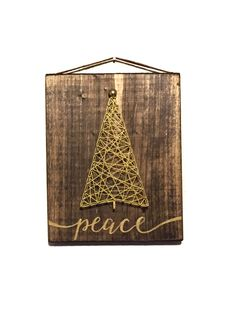 O' Christmas Tree string art by ThreadTherapy1 on Etsy https://www.etsy.com/listing/253679339/o-christmas-tree-string-art