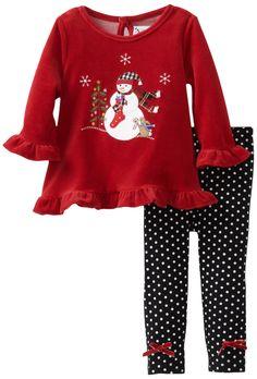 Amazon.com: Good Lad Baby-Girls Infant Velour Legging Set: Infant And Toddler Pants Clothing Sets: Clothing