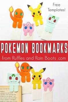 Pokemon Bookmarks Make the Cutest Pokemon Craft Idea for Kids Easy Pokemon, Pokemon Craft, Cute Pokemon, Pokemon Games For Kids, Pokemon Eevee, Pokemon Comics, Pokemon Birthday, Pokemon Party, Pokemon Bookmark