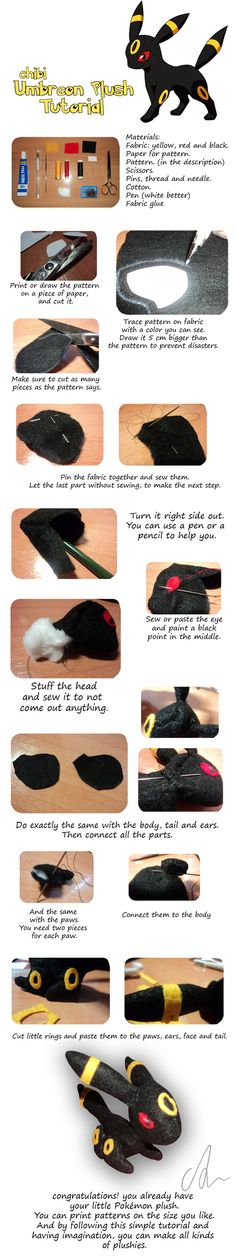 Chibi Umbreon Plush Tutorial by Aintza-K If I decide not to crochet the plush