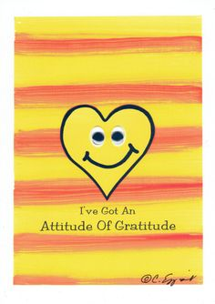 "5x7 Art Print -- ""I've Got an Attitude of Gratitude"" by Affirmtoo on Etsy"