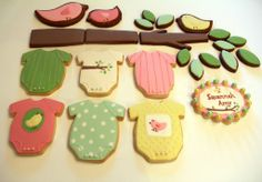 Cookie collage for a baby shower...Oh, to be this talented!