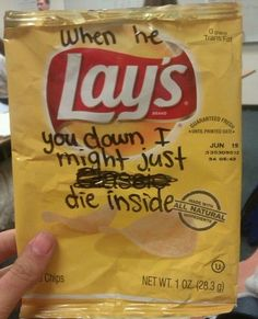 """""""It just don't feel right, cuz I can love you more than this""""!!❤️ More Than This - One Direction via Potato chips"""