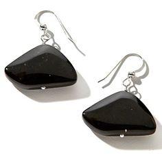 Jay King Black Tourmaline Sterling Silver Drop Earrings at HSN.com.