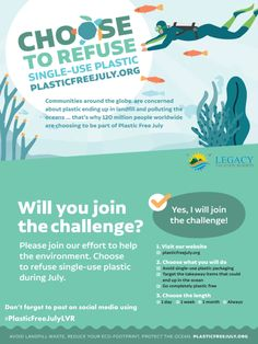 As a continued practice of sustainability, Legacy Vacation Resorts is participating in Plastic Free July, a month long campaign targeting the less usage of single-use plastics.