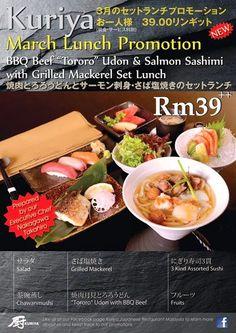 Kuriya Japanese Restaurant Bangsar Menu