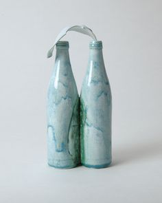 "Ayaka Terajima / 2017 ""Emotional bottles - Twins"" #sculpture #art #ceramic #porcelain #potter #japanese"