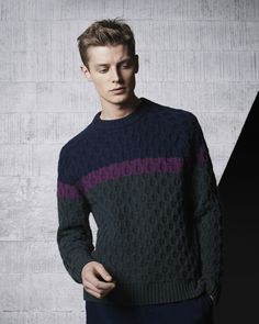 fagggotries: Janis Ancens for Lacoste 2015 Knitwear Fashion, Men's Knitwear, Androgynous Fashion, Knitting Designs, Sweater Weather, Shirt Style, Men Sweater, Men Casual, Mens Fashion