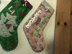 FA LA LA LA LA AND PEACE ON EARTH CHRISTMAS STOCKINGS