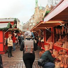 Exploring one of the many Copenhagen Christmas Markets! Copenhagen in the winter is an absolute fairytale.