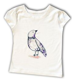 Bird T-shirt  / Girls Tee Shirt / Top /  Children's / Kids / Baby Clothes by withhugsandkisses. Explore more products on http://withhugsandkisses.etsy.com