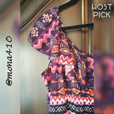 ✨HP✨ 💠Tribal Maxi Dress/NWOT One-shoulder Maxi Dress in tribal pattern. This dress has very vibrant pinks, oranges, and purples. Pretty dress and extremely comfortable feel. Purchased from Dillards. Never worn.   ✨Host Pick-Downtown Romantic Party✨  ♦LISTINGS WITH '💠' MUST BE BUNDLED.♦  95% Polyester 5% Spandex Machine wash cold Gentle cycle/line dry  * Sorry, no trades or PP * Smoke-free home 🔸15% off bundles of 3 items or more🔸 Ultra Flirt Dresses Maxi