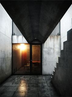 Tadao Ando Architects and Associates Row House, Sumiyoshi 1976