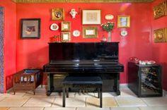 home decor pics red colors | red bathtub pinkish red bathroom wallpaper