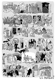 The Complete Story of Harry Potter Illustrated in 8 Posters by Lucy Knisley - ComicsAlliance | Comic book culture, news, humor, commentary, and reviews