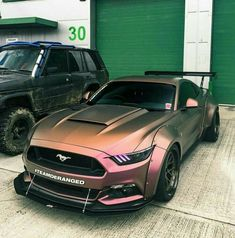 Mustang in Matte Rose Gold Flip