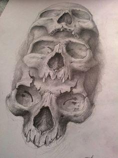 3 skulls by AndreySkull on deviantART