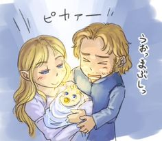 Idril and Tuor with newborn Earendil