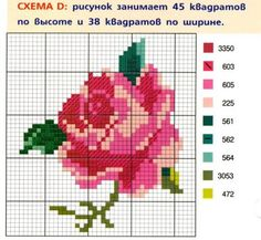 Мастерская. Käsitöö.: Вышиваем цветы. Схемы вышивок крестиком.