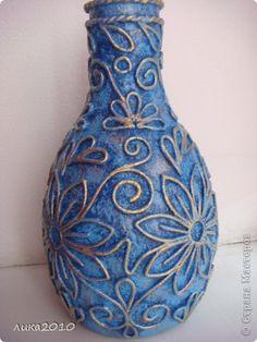 Декор предметов 8 марта Новый год Аппликация из скрученных жгутиков Восточная ваза Салфетки фото 3