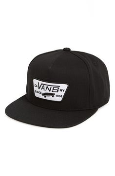 Vans  Full Patch  Snapback Hat (Big Boys) available at  Nordstrom Cool 240d801c5d23