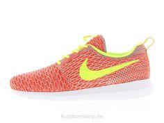 wholesale dealer 81199 85640 Nike Flyknit Roshe Run Hot Lava   Volt-Team Orange-vapeur vert Nike Huarache